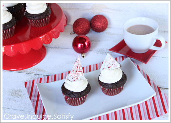 Peppermint Hot Chocolate Cupcakes Recipe