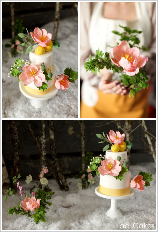 Snowy Lemon Winter Wedding Cakes