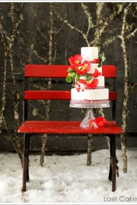 Snowy Winter Wedding Cakes