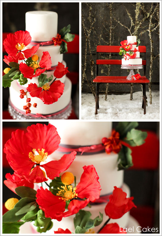 Snowy Winter Wedding Cakes And because two cakes are twice the fun