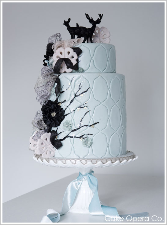 Elegant Winter Wedding Cake by Cake Opera