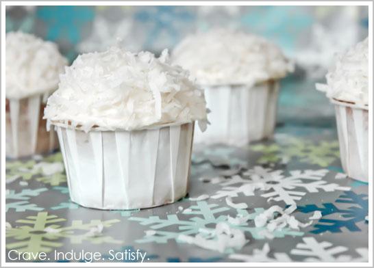 Italian Cream Snowball Cupcake