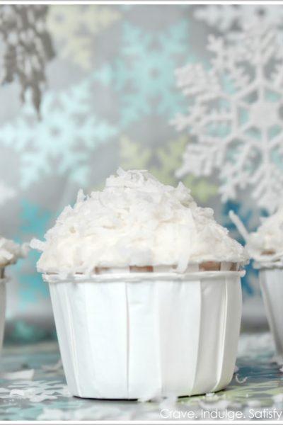 Italian Cream 'Snowball' Cupcakes