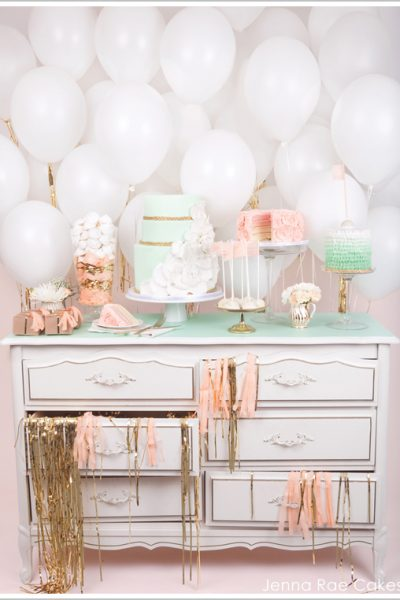 Fresh & Feminine Cake Table