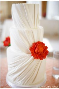 Dress Ruching Bridal Cake