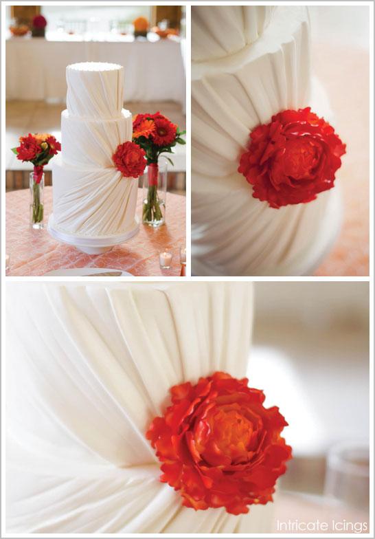 Dress Ruching Bridal Cake