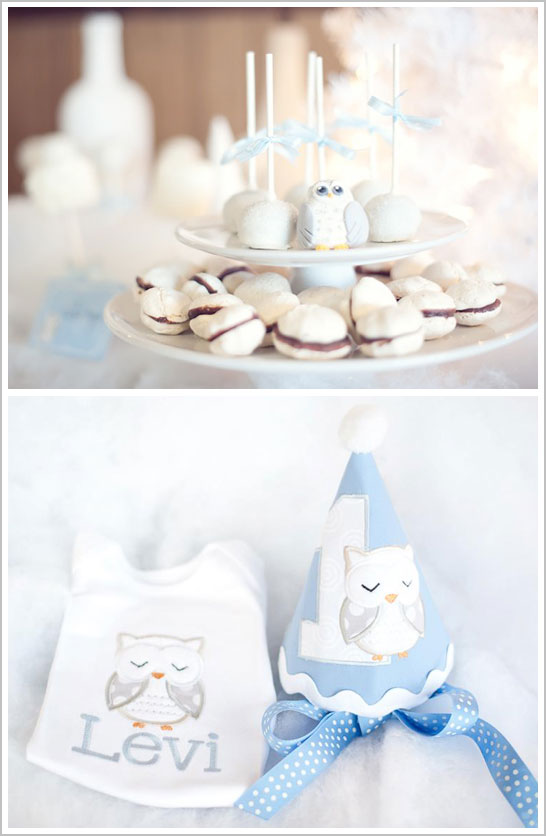 Snow Owl First Birthday Party