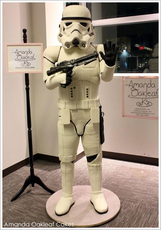 Life-size stormtrooper Cake by Amanda Oakleaf