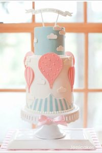 Up, Up and Away Baby Shower Cake