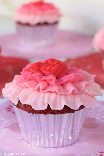 Ombre Ruffle Cupcakes
