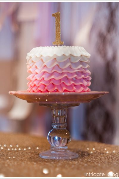 Glittering Gold & Pink Birthday