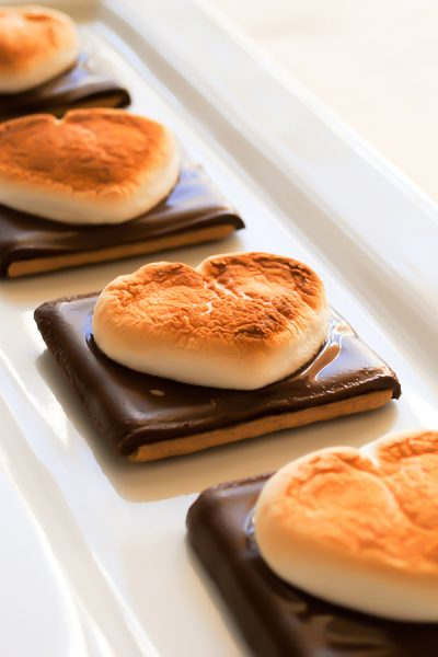 Heart Shaped S'more Cookies