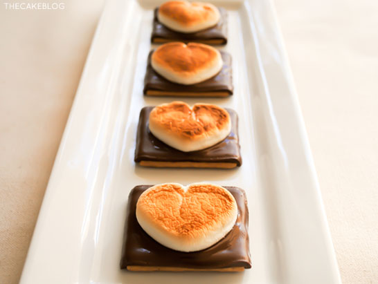 Heart Shaped S'more Cookies!! A super easy, 3 ingredient Valentines treat that takes less than 10 minutes! | by Carrie Sellman for TheCakeBlog.com