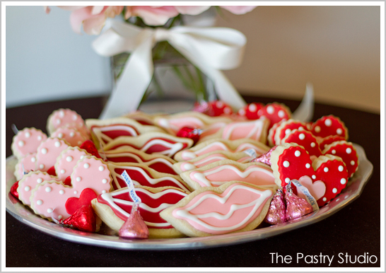 Lips and Heart Valentine's Cookies