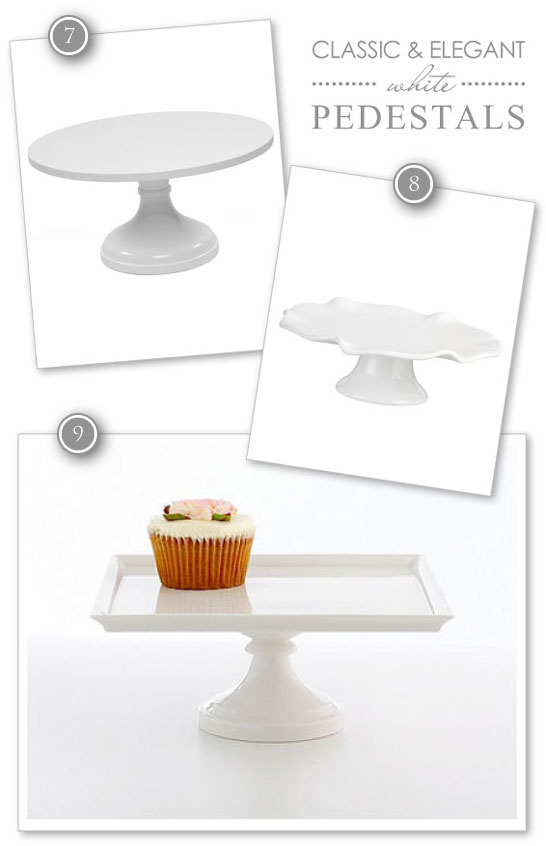 Classic White Cake Pedestals