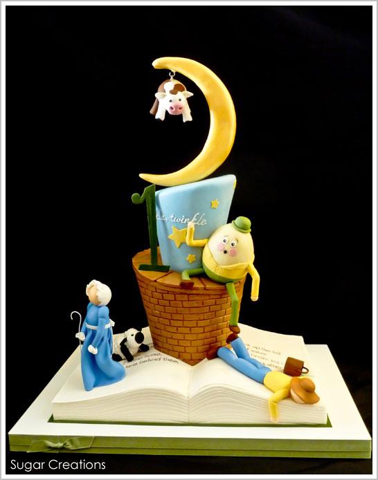 Nursery Rhyme 1st Birthday Cake