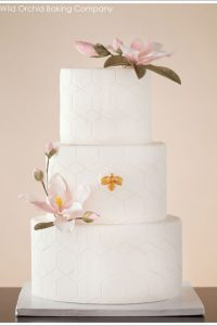 Honeycomb & Golden Bee Wedding Cake