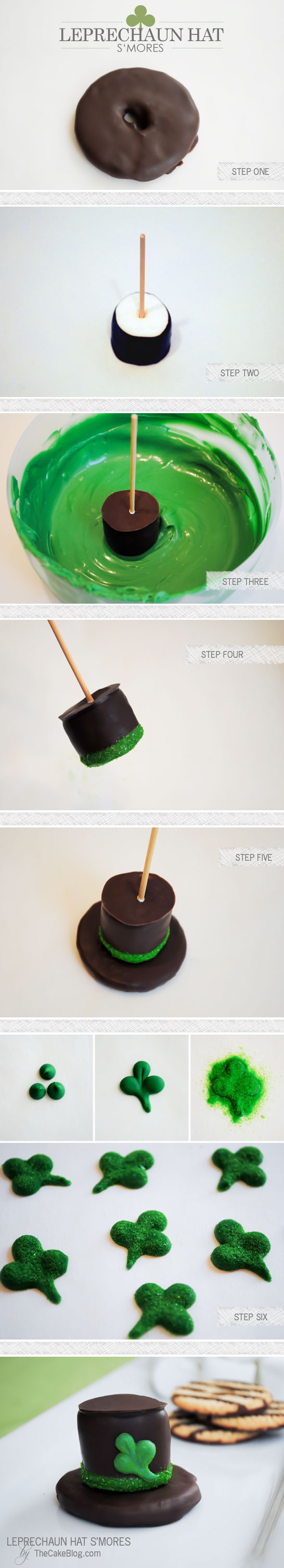 Leprechaun Hat S'mores - a festive St. Patrick's day treat that the kids will love | Carrie Sellman for TheCakeBlog.com
