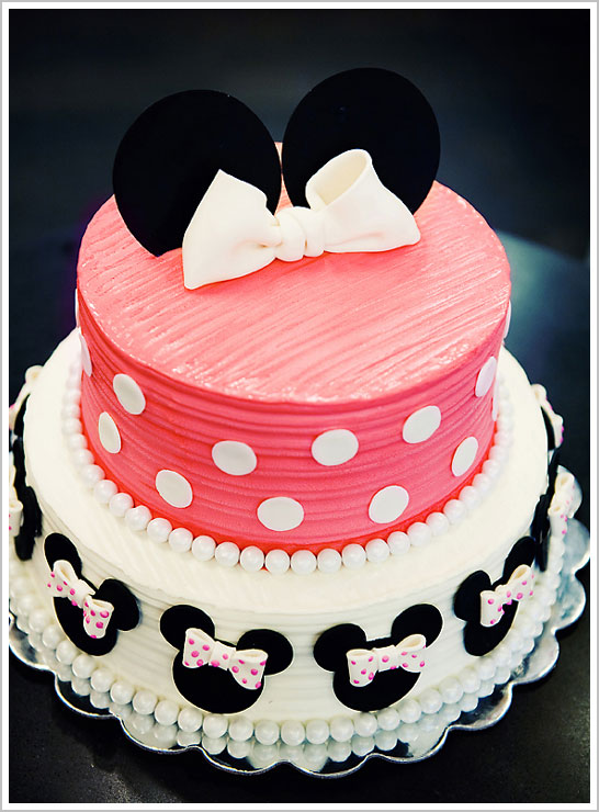 Groovy Minnie Mouse 1St Birthday The Cake Blog Personalised Birthday Cards Veneteletsinfo