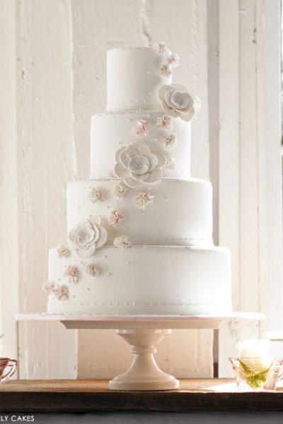 Blushing Wedding Cake