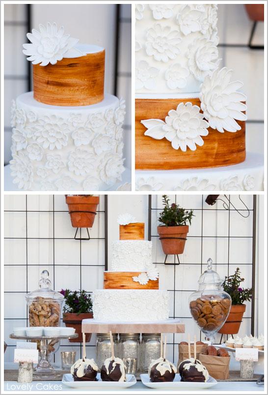 Rustic Wedding Cake Flowers Wood Grain It 39s simply beautiful