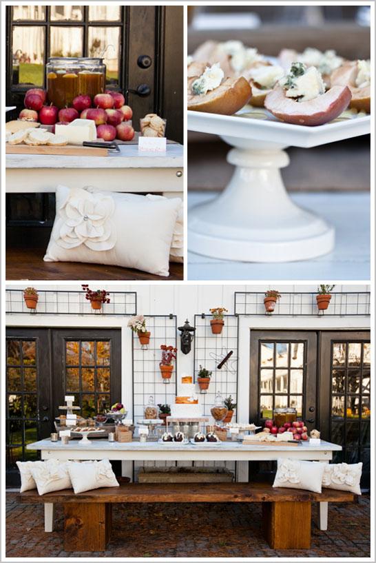 Wood Dessert Table ~ Wood grain white a rustic wedding cake