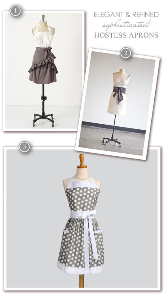 Sophisticated and Refined Hostess Aprons