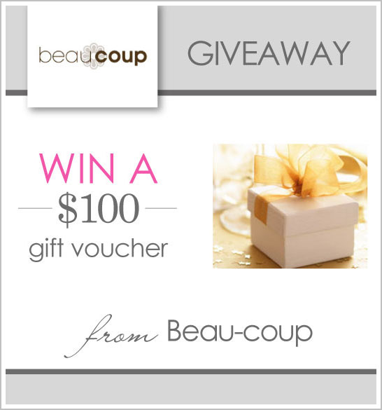 $100 Giveaway to Beau-coup Favors
