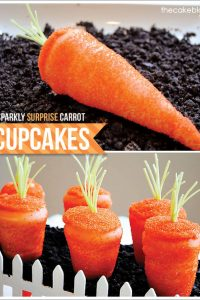 Sparkling SURPRISE Carrot Cupcakes