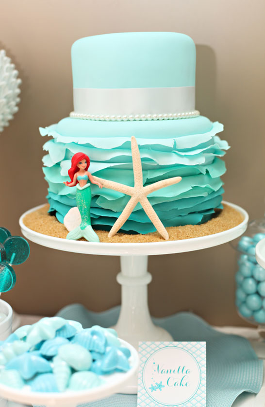 Mermaid Birthday Cake for The Tomkat Studio |  TheCakeBlog.com