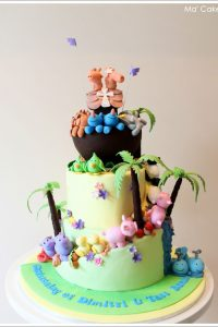 Noah's Ark Cake - Baptism or First Birthday Cake
