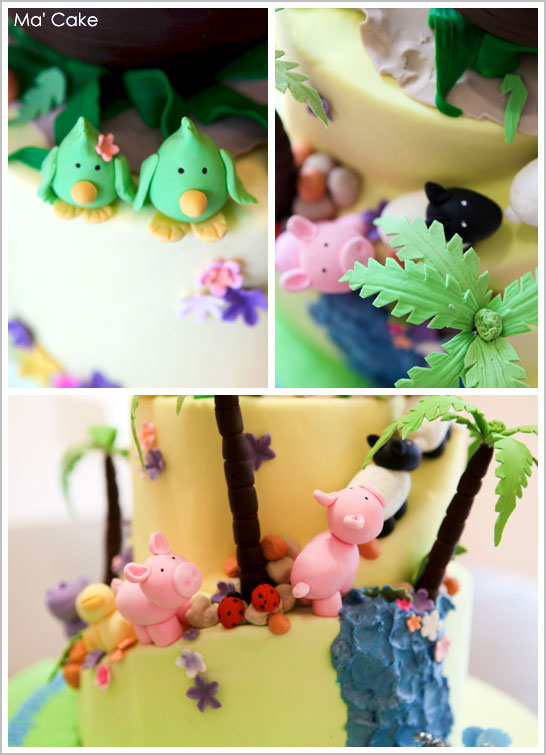 Noah's Ark Cake - Baptism or First Birthday Cake