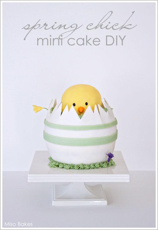 Spring Chick - Mini Easter Cake DIY
