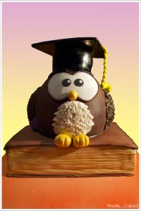 Graduation Owl Cake