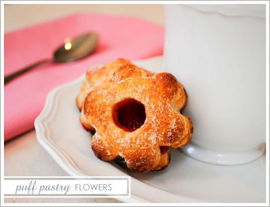 Puff Pastry Flowers for Mother's Day