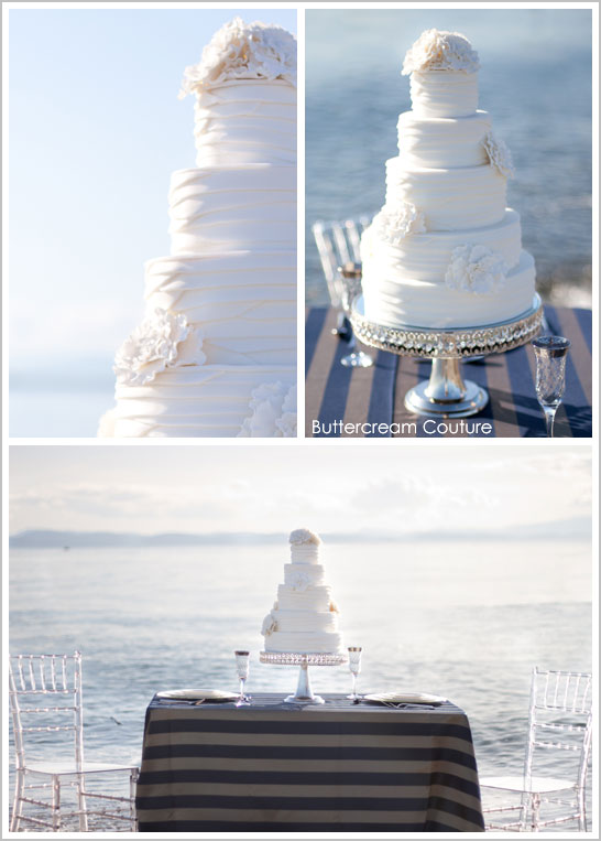 White on White Sailing Wedding Cake
