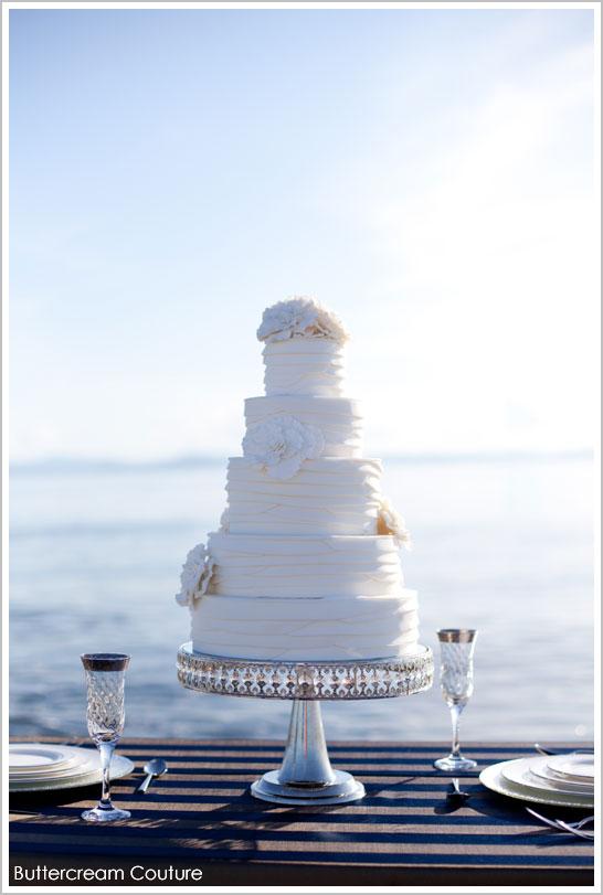 White on White Sailing Wedding Cake