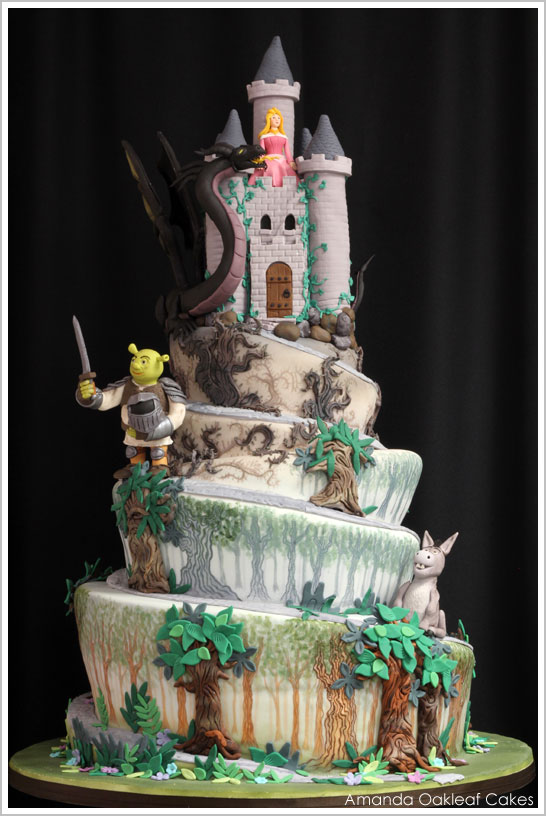 Shrek Castle Cake