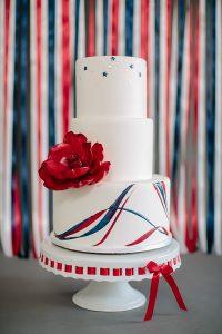 American Flag Wedding Cake | by Rachael Teufel for TheCakeBlog.com