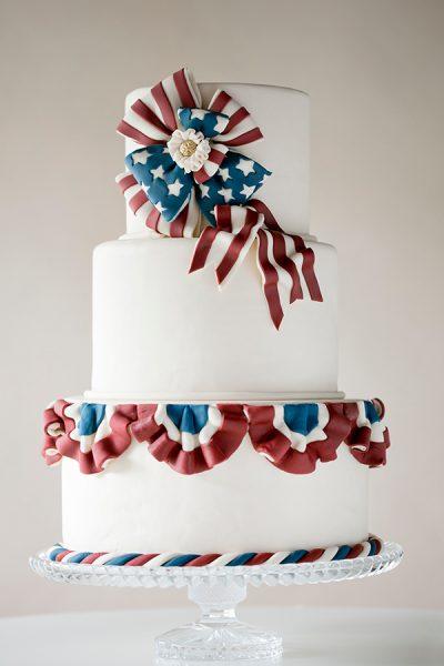Vintage American Patriotic Cake