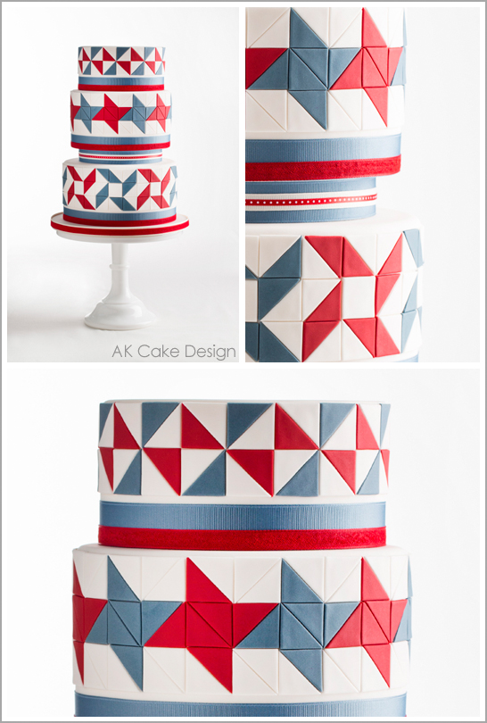 Quilting Cake Designs : The 1st Cake of July
