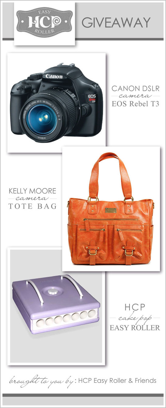 Canon DSLR Camera Giveaway : from HCP Easy Cake Pop Roller