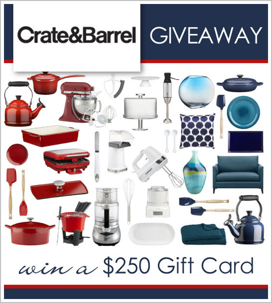 Crate & Barrel Giveaway on TheCakeBlog.com