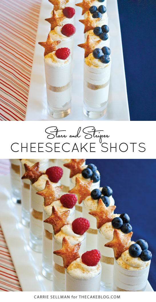 Patriotic Cheesecake Shots for July 4th | by Carrie Sellman for TheCakeBlog.com