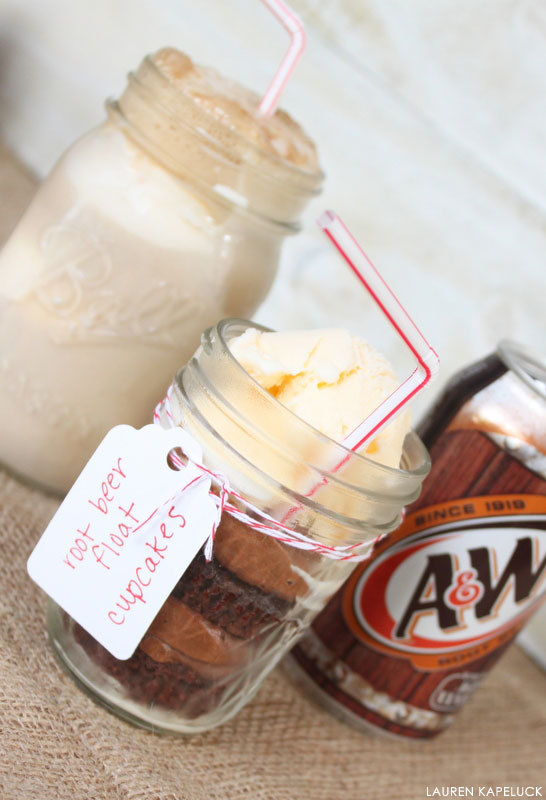 Root Beer Float Cupcakes | by Lauren Kapeluck  for TheCakeBlog.com