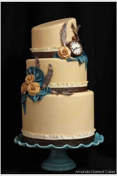 Victorian Steampunk Wedding Cake