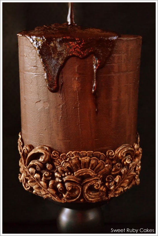 Carved Ganache by Sweet Ruby Cakes | TheCakeBlog.com