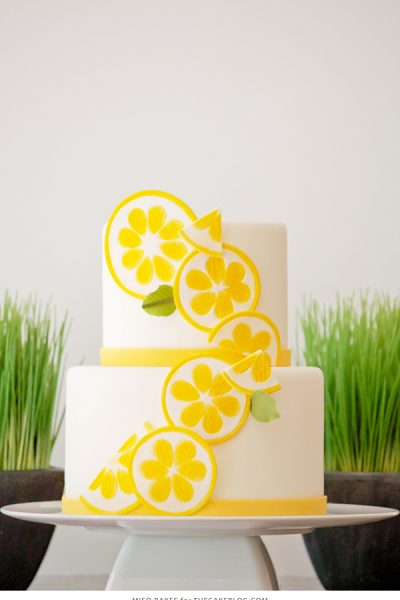 DIY Lemon Slice Cake Toppers