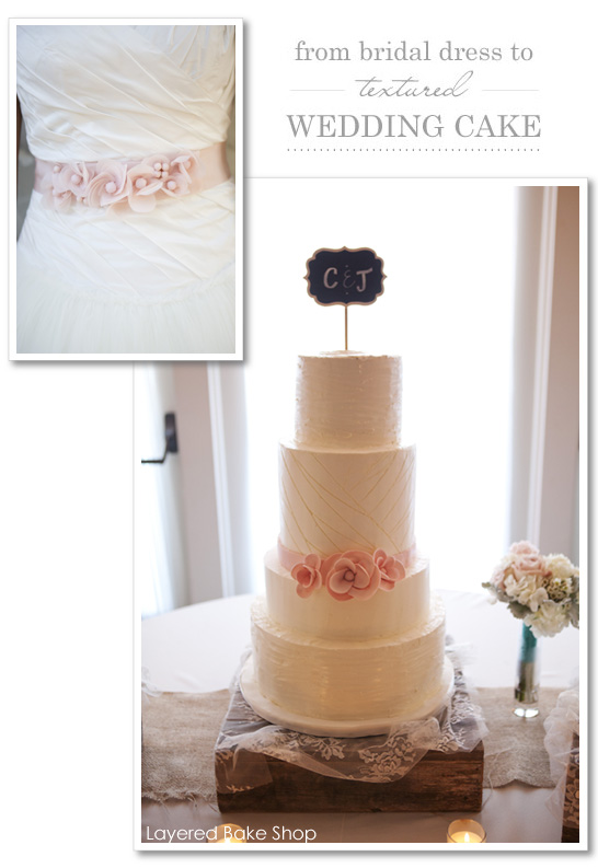 Silk & Tulle Cake by Layered Bake Shop  |  TheCakeBlog.com