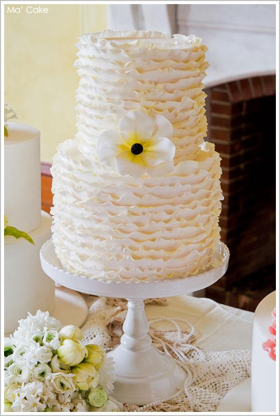 Summery Ruffle Cake by Ma' Cake  |  TheCakeBlog.com